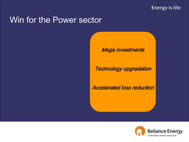Win for the Power sector