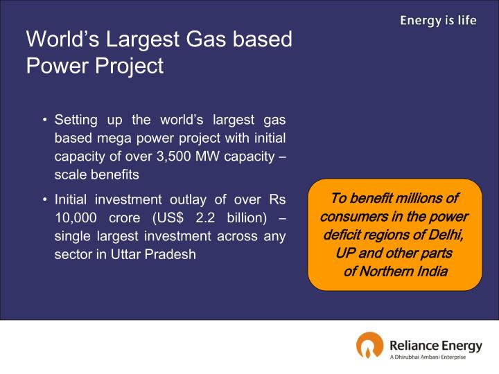 World's Largest Gas based