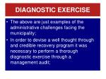 diagnostic exercise
