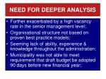 need for deeper analysis1