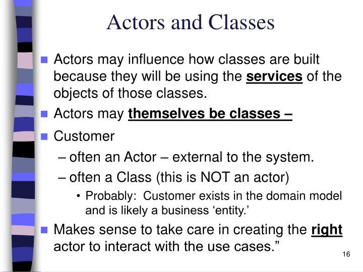 Actors and Classes
