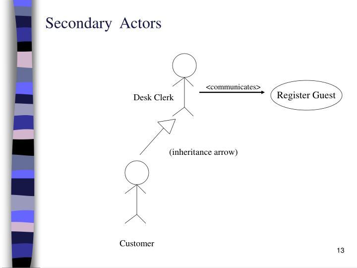 Secondary  Actors