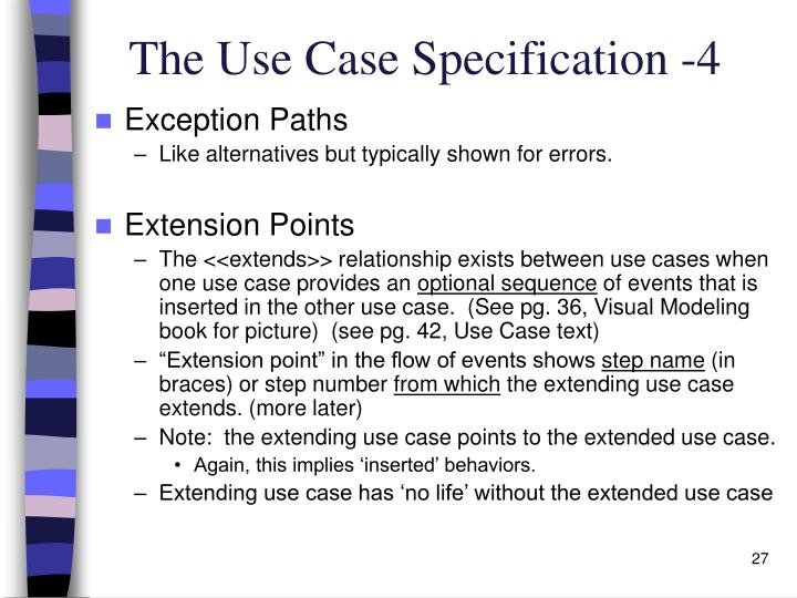 The Use Case Specification -4