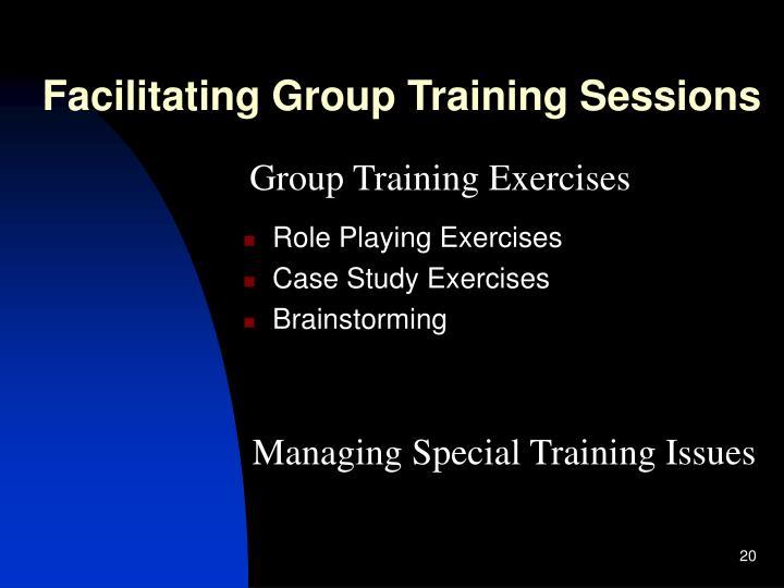 Facilitating Group Training Sessions