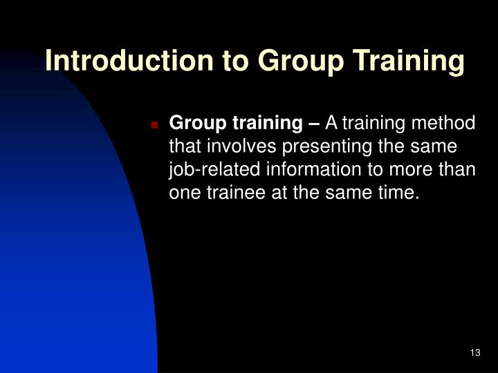 Introduction to Group Training