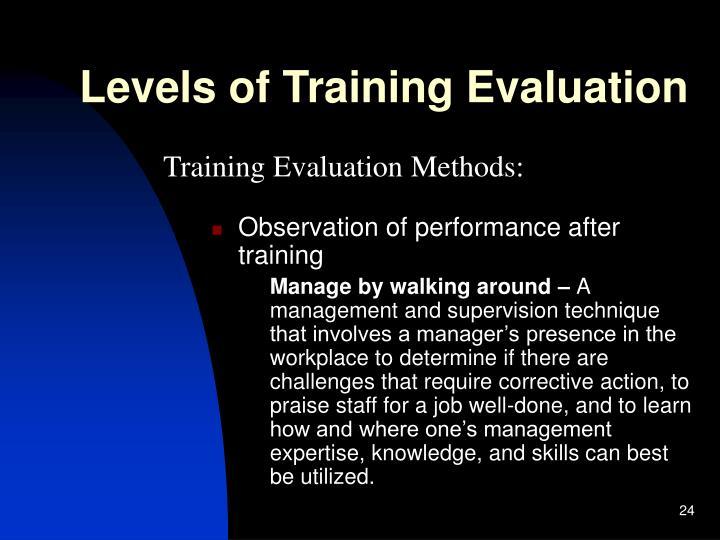 Levels of Training Evaluation