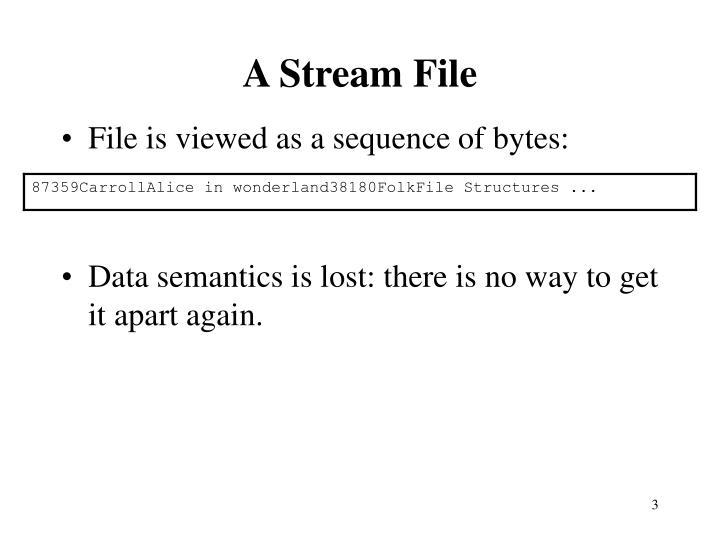 A Stream File