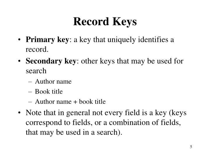 Record Keys