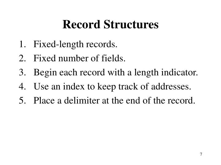 Record Structures
