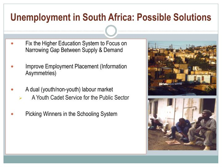 Unemployment in South Africa: Possible Solutions