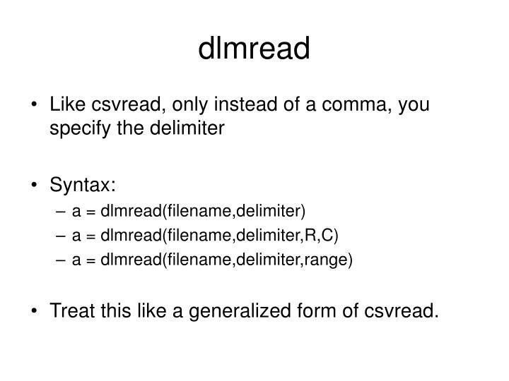 dlmread