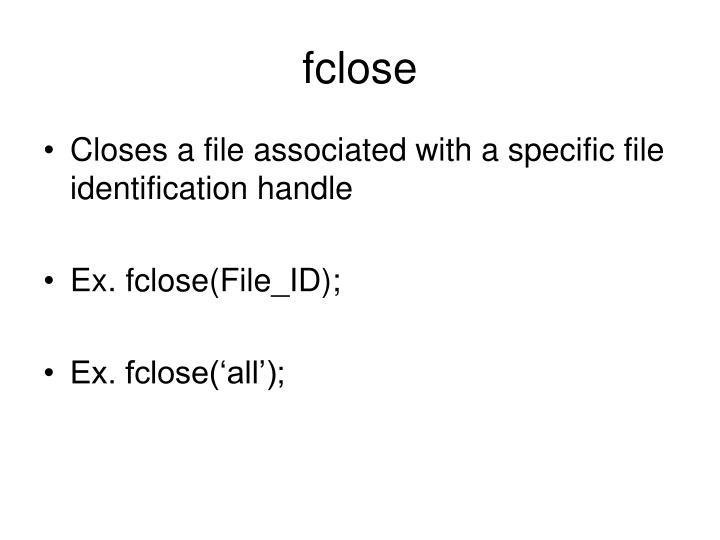 fclose