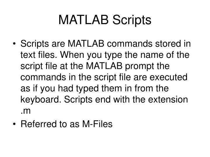 MATLAB Scripts