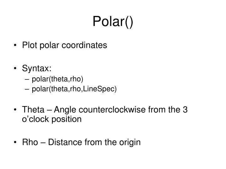 Polar()