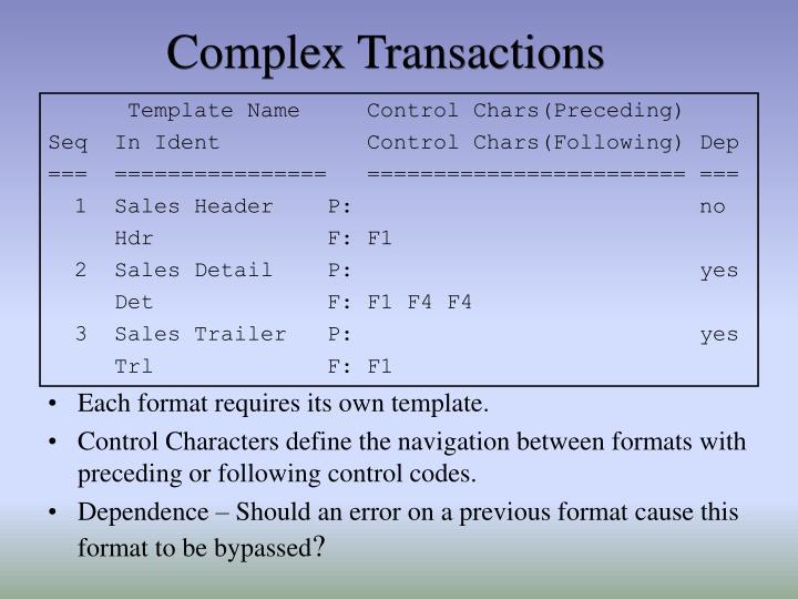 Complex Transactions