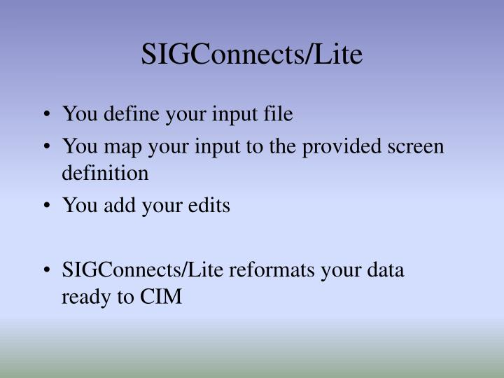 SIGConnects/Lite