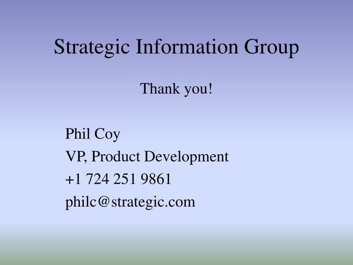 Strategic Information Group