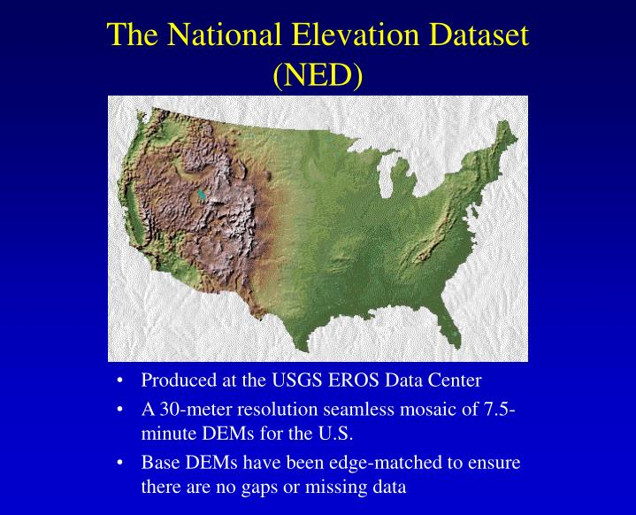 The National Elevation Dataset