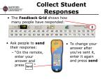 collect student responses