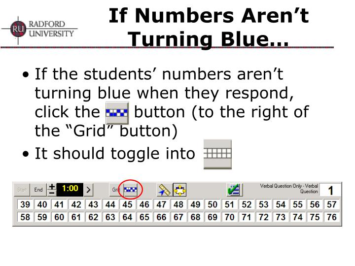 If Numbers Aren't Turning Blue…