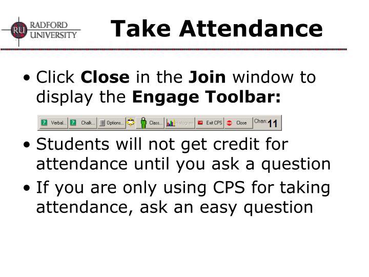 Take Attendance