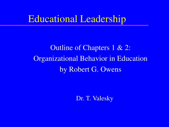 thesis on educational leadership