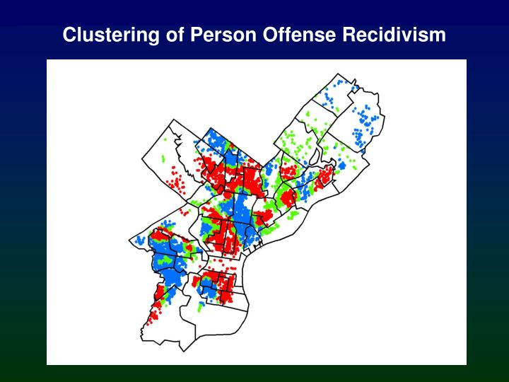 Clustering of Person Offense Recidivism