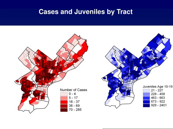 Cases and Juveniles by Tract