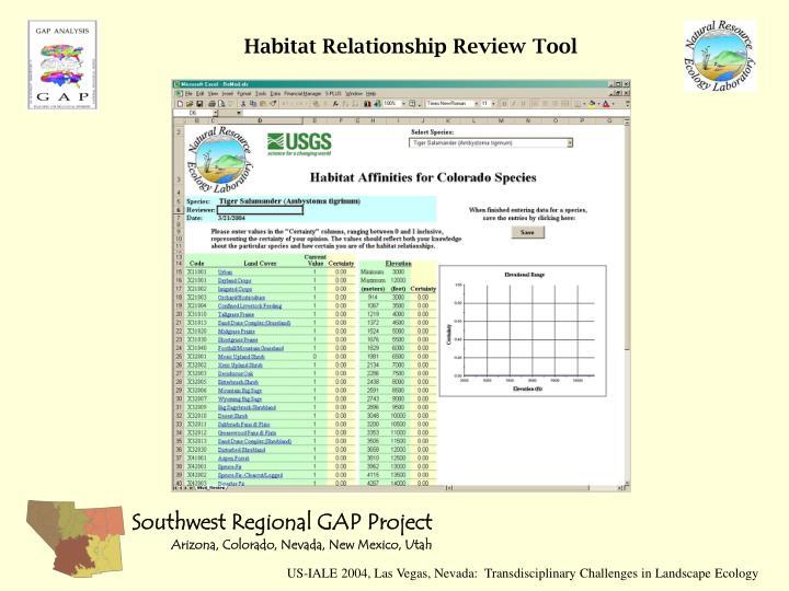 Habitat Relationship Review Tool