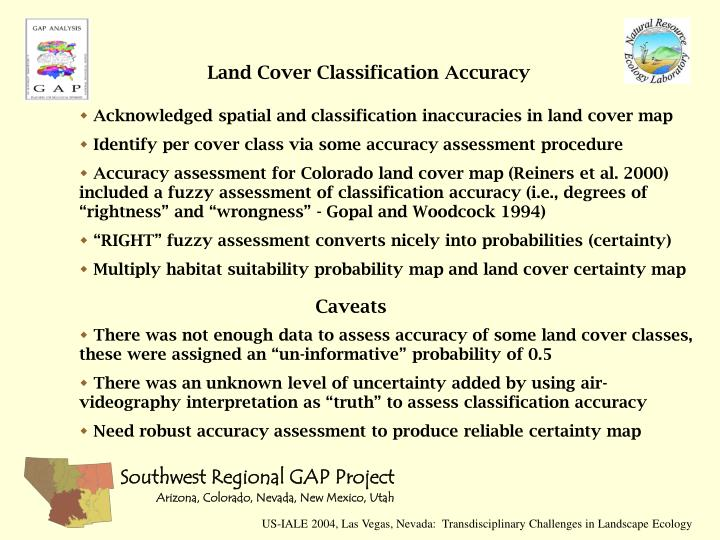 Land Cover Classification Accuracy