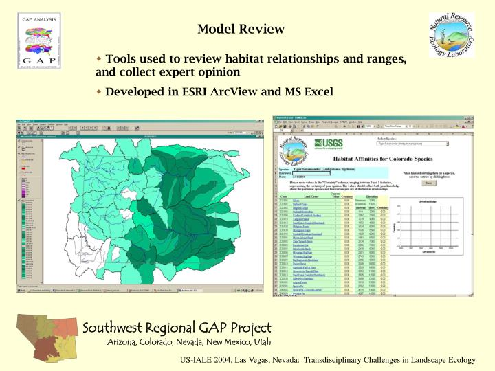 Tools used to review habitat relationships and ranges, and collect expert opinion