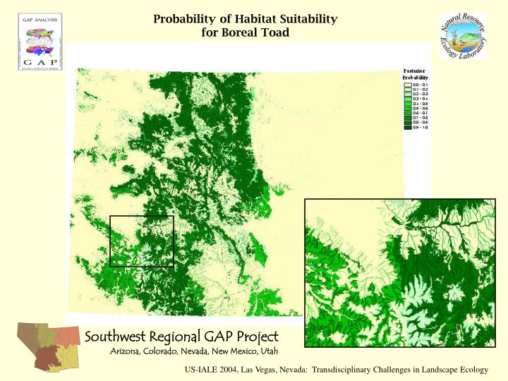 Probability of Habitat Suitability for Boreal Toad