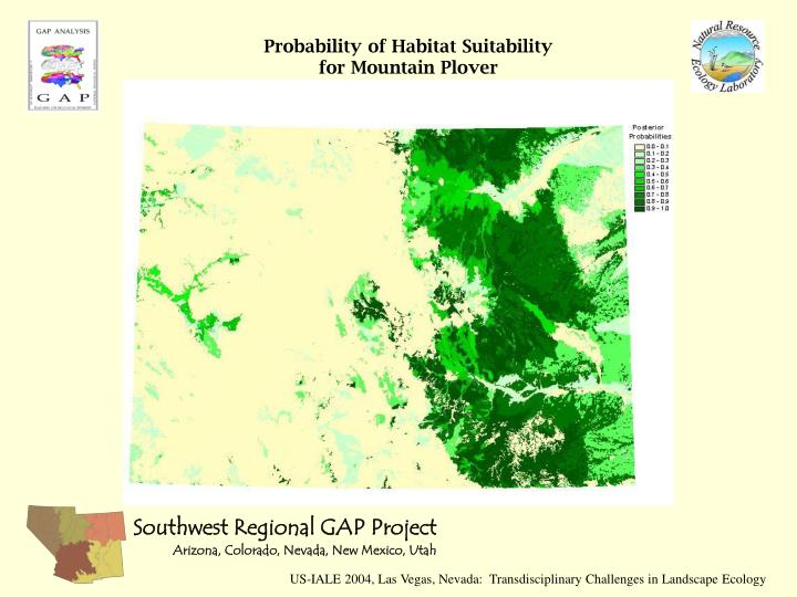 Probability of Habitat Suitability for Mountain Plover