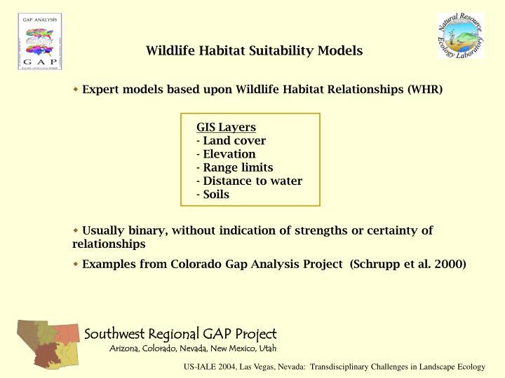 Wildlife Habitat Suitability Models