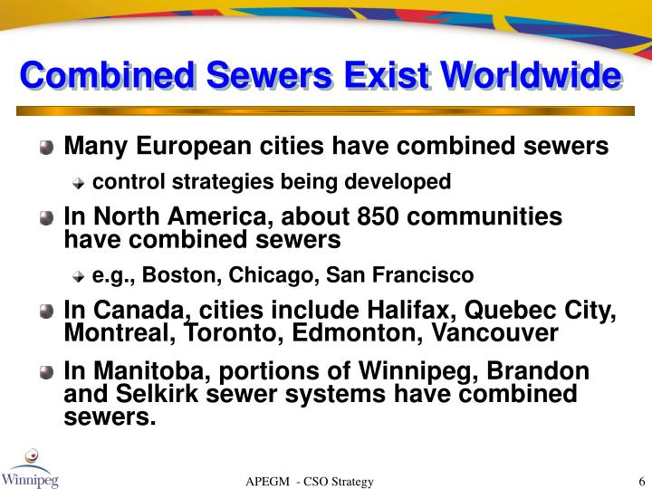 Combined Sewers Exist Worldwide