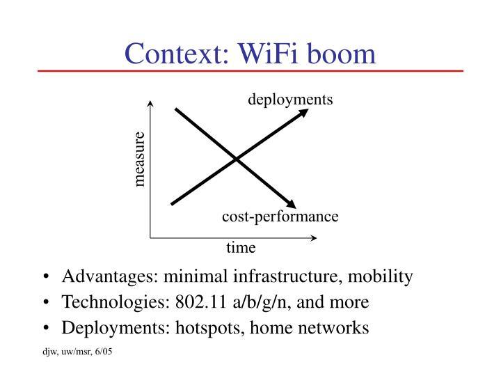 Context: WiFi boom