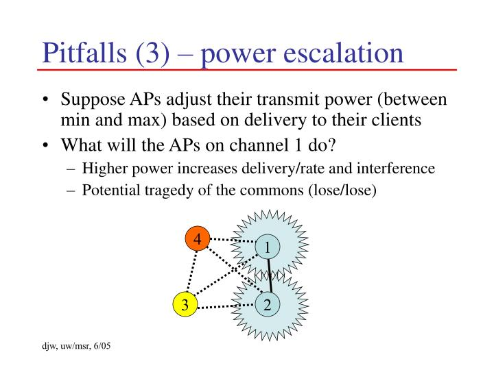 Pitfalls (3) – power escalation