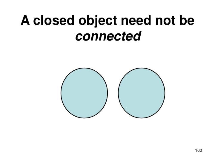 A closed object need not be