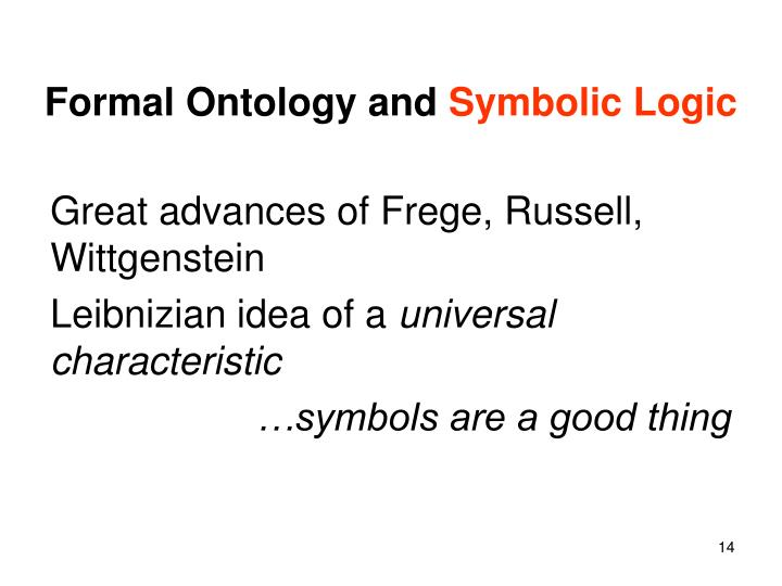 Formal Ontology and