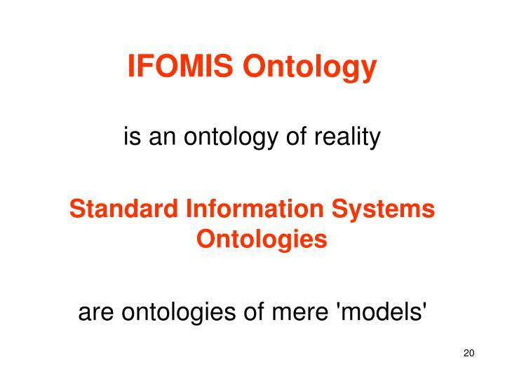 IFOMIS Ontology