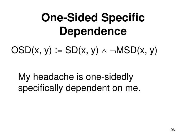 One-Sided Specific Dependence