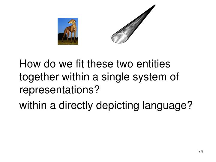 How do we fit these two entities together within a single system of representations?