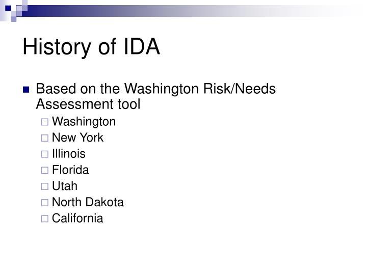History of IDA