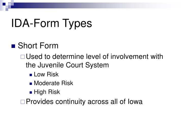 IDA-Form Types