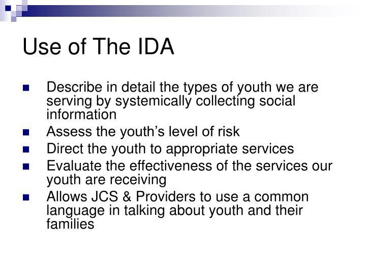 Use of The IDA