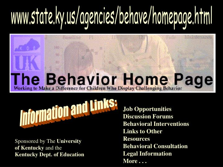 www.state.ky.us/agencies/behave/homepage.html