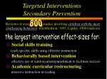 targeted interventions secondary prevention