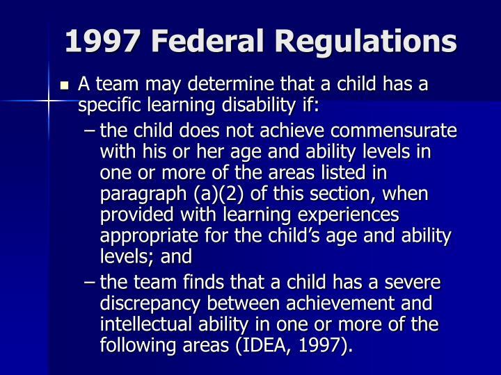 1997 Federal Regulations