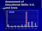 assessment of educational skills u s and iowa
