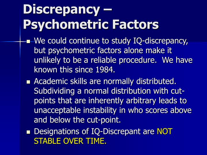 Discrepancy –
